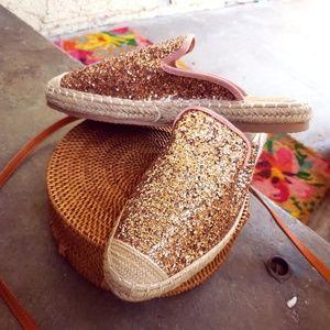 Shoes - 🆕//The Breezy// Mauve Glitter Mule/ Slide